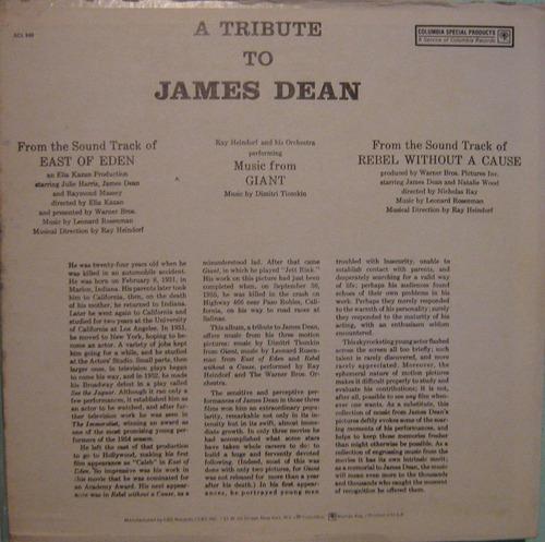 a tribute to james dean - ray heindorf - lp importado usa