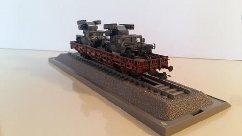 a vagón roco minitanks 865 con dos hummer - marklgh marklin
