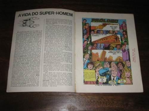 a vida do super homem formato album editora ebal ano 1983