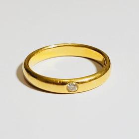 A Vista 609 Anel Ouro 18k 4,2g Premiumjoias Diamante 5pts