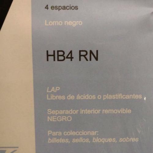 a0028 hoja rigida negra para billetes vk 4 espacios hb4 rn