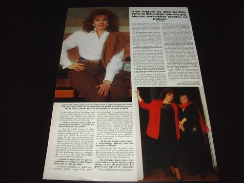 (a107) lupita ferrer * revista recorte clipping (1991)