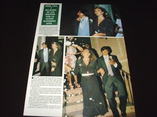 (a117) alexandra king * revistas recortes clippings (1984)
