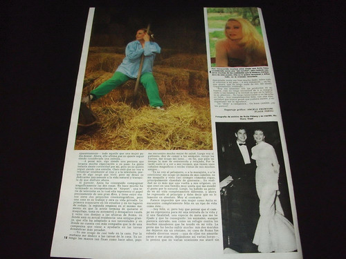 (a121) anita ekberg * revistas recortes clippings (1984)
