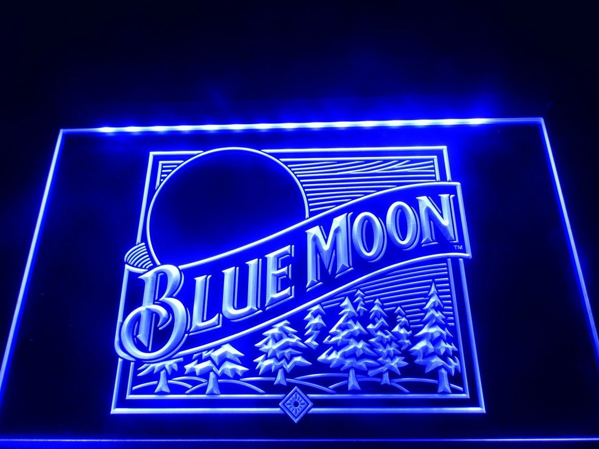 A167 b blue moon beer bar pub logo neon light sign 153083 en bar pub logo neon light sign cargando zoom aloadofball Image collections