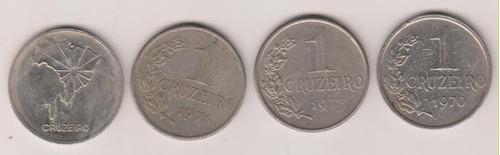 a265 - 1 um cruzeiros 1970/74 e 75 o lote por r$ 15,00
