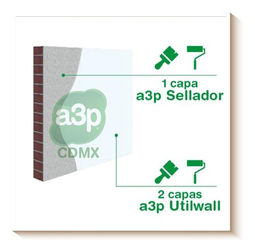 a3p utilwall pintura impermeable de unicel galón