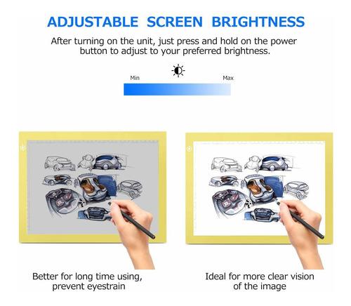 a4 brillo regulable led artcraft light box tracer slim ...
