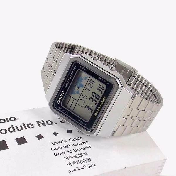 ec5bb8da17c A500wa-1df Relogio Casio Quadrado World Time Original - R  214