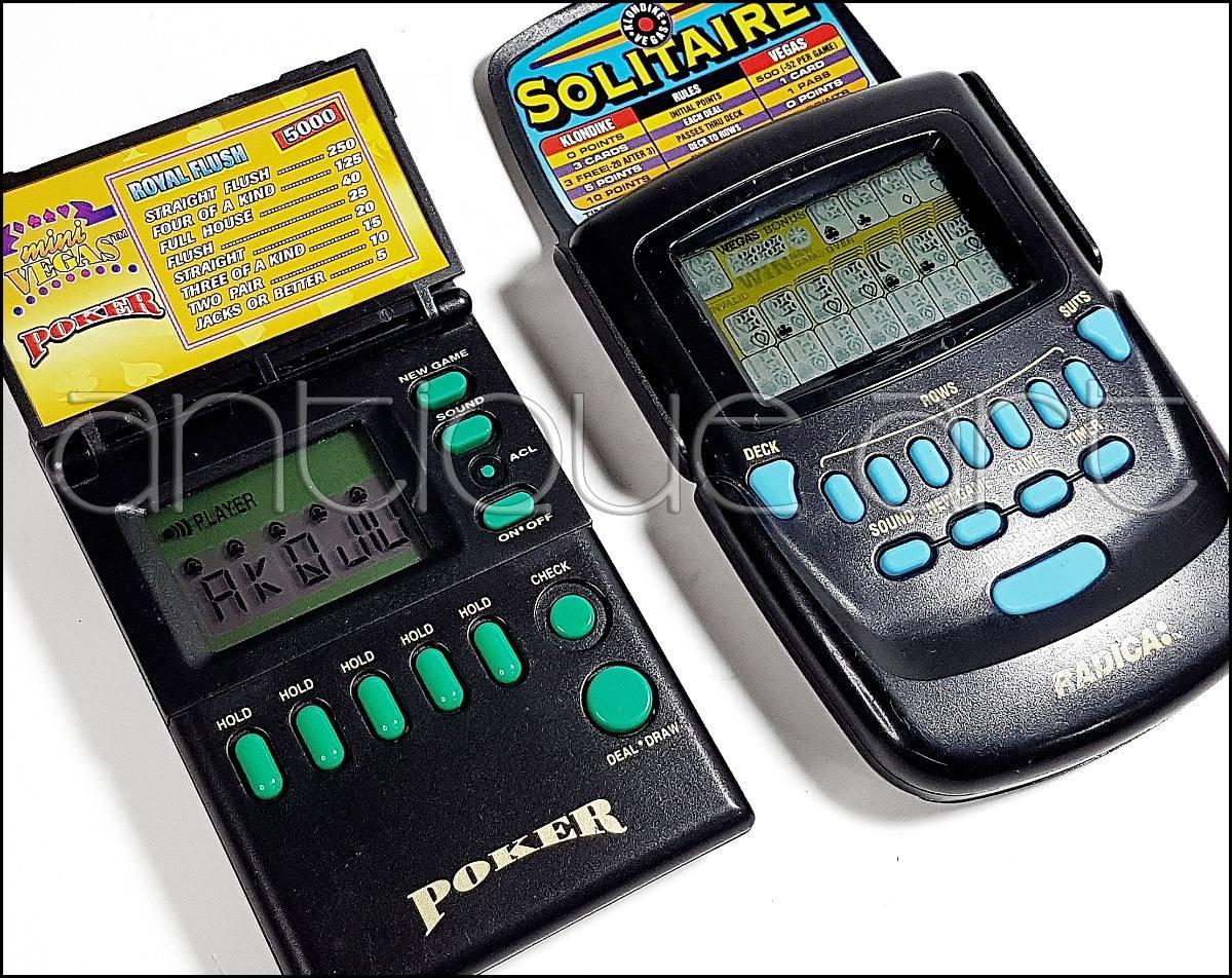 A64 2x Juegos Electronicos Poker Y Solitaire 90 S En Oferta S 45