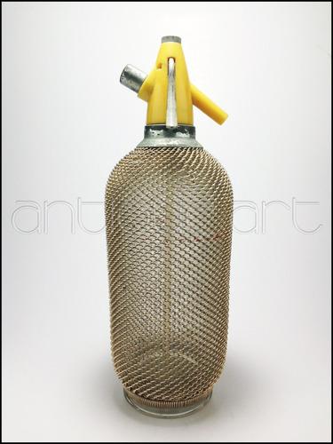 a64 botella sifon enmallada antiguedad vintage decoracion