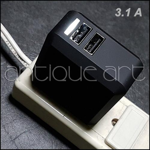 a64 cargador 3.1a votec dual 2 salidas usb celular tablet