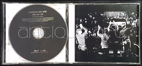 a64 cd + dvd banda coldplay live 2003 ©2003 rock alternativo