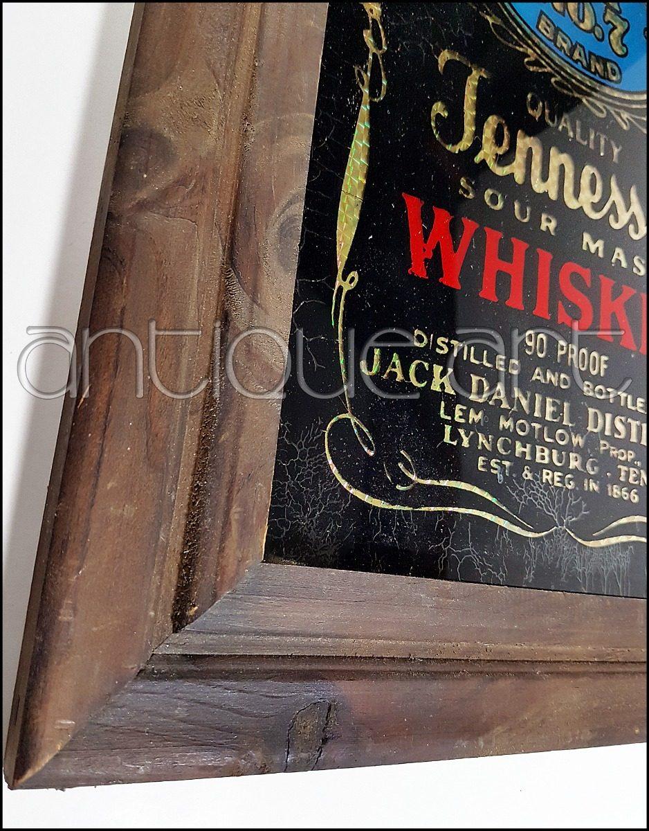 A64 Letrero Vidrio Pintado Jack Daniel\'s Marco Vintage Bar - U$S 135 ...