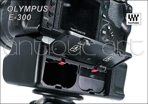 a64 olympus e300 + lente 40-150mm + battery grip accesorios