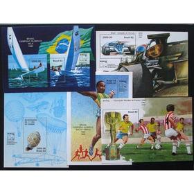 A8070  Brasil Blocos Brasiliana 83 Nº 58/62 Completo Nova
