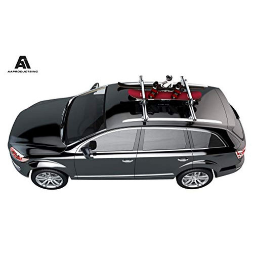Ski Roof Carrier Universal Roof Mount Snowboard Car Rack fits 4 Snowboards