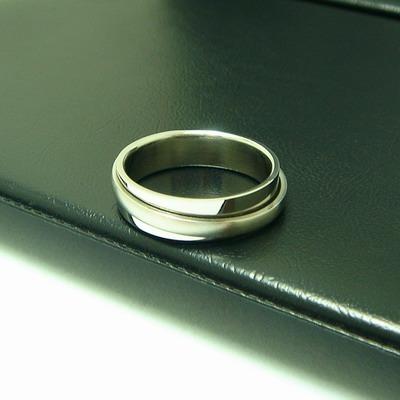 aa208 anillo de acero italiano, antiestress, talla 8.5