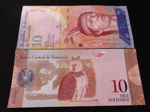 aa#3 billete de venezuela 10 bolivares aguila arpia