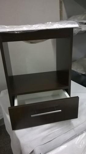 aaa oferta vanitory wengue con pileta y espejo marco blanco
