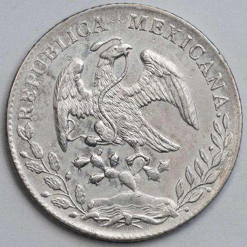 aaaa 1888 8 reales pi rara moneda mexicana peso au plata cf2