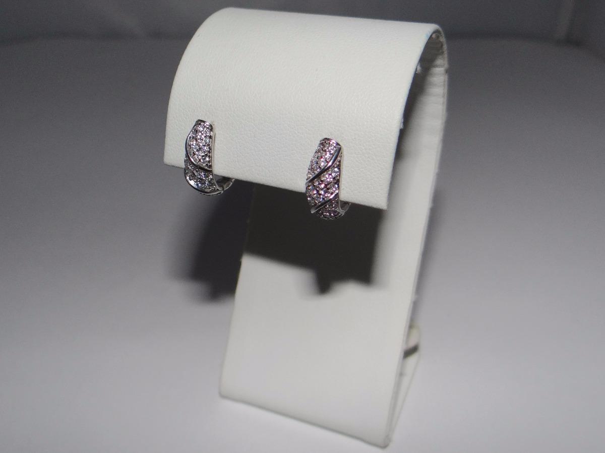 98f6546b53d3 aad6a17 aretes elegantes sencillos de plata 925 c  cristales. Cargando zoom.