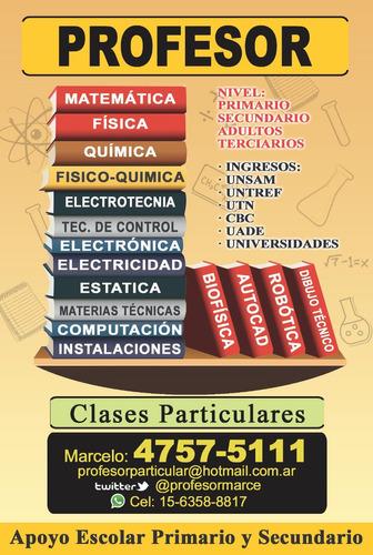 aatencion profesor de matemática física química contabilidad