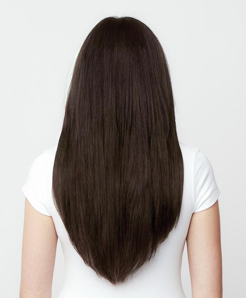 Ab extensiones cortina cabello 55cm 100 natural choco 2 en mercado libre - Extensiones cortina ...