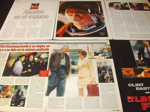 (ab074) clint eastwood * recortes revistas clippings