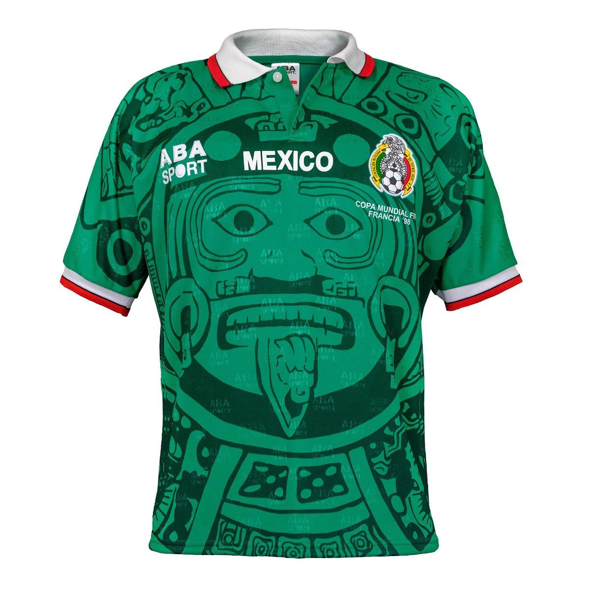 6da9faa9539 aba sport mexico auténtico 1998 world cup soccer jersey gre. Cargando zoom.