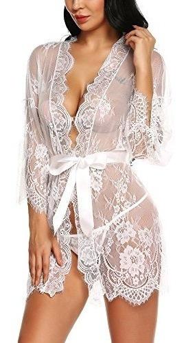 ababoon womens lace kimono bata babydoll lenceria camison ca