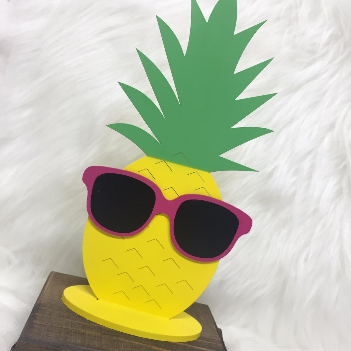 Abacaxi Com Óculos Mdf Decoração Festa Havaí Aloha Quarto - R  39,90 ... 7020c08e92