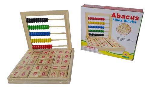 ábaco para niños con bloque de aprendizaje didáctico