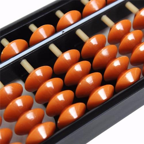 ábaco soroban com 17 hastes colunas 24 cm plástico