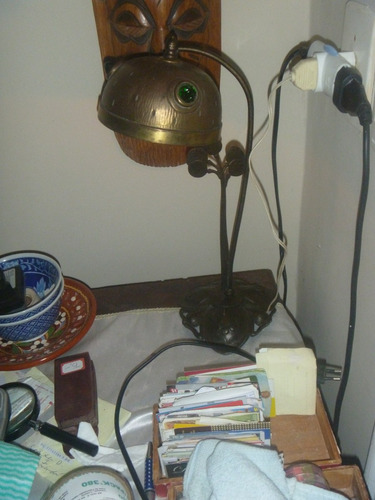 abaixamos luminaria em cobre trabalhado art nouveau