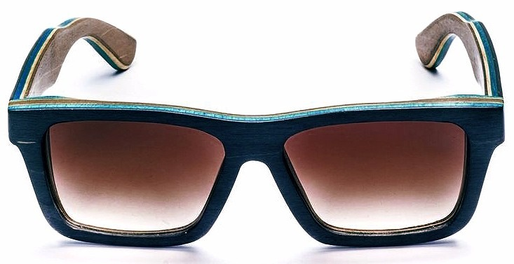 58e8149e6b99d Abaixou! Óculos De Sol Yeva Madeira Wood Azul Polarizado - R  349,99 ...
