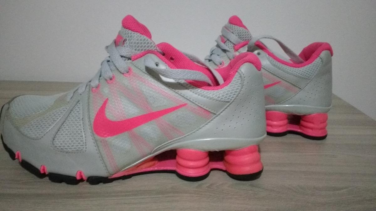 Abaixou! Tênis Nike Shox Agent+ Feminino Tam. 37 Cinza Rosa - R  289 ... 1acc56f93ff