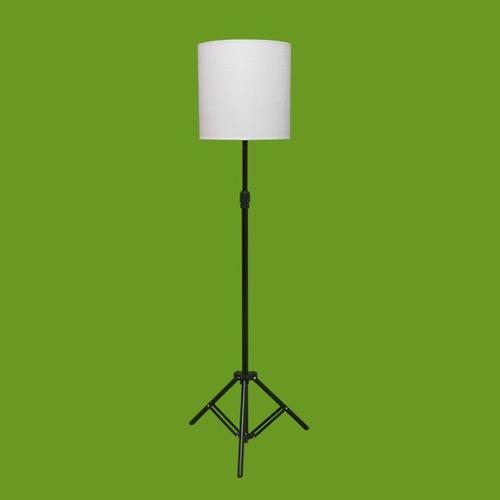 abajur chão piso luminária coluna tripé com regulagem altura
