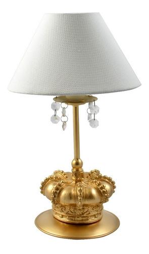 abajur coroa exclusivo rei principe cristal luis xv luxo
