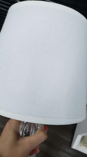 abajur de mesa decoração  branco - metal com acrílico