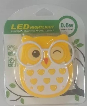 abajur de tomada infantil-modelo coruja - luz de led (mini)
