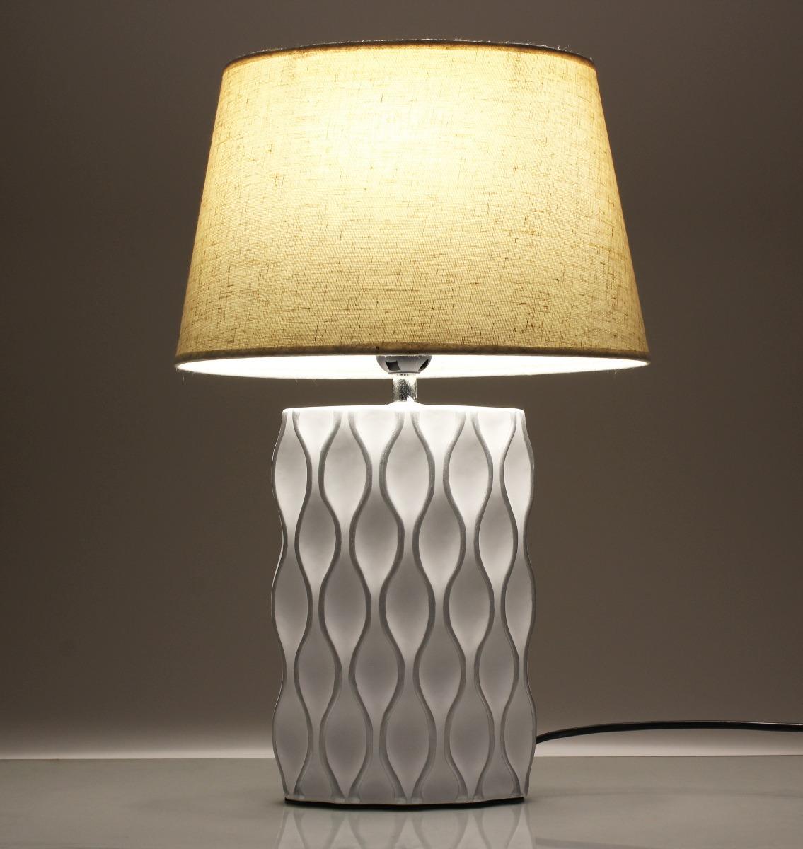 Abajur Elegante Ceramica Branco P Sala Luxuoso Promocao R 104 99  -> Abajur De Parede Para Sala