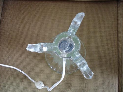 abajur em vidro muito antigo