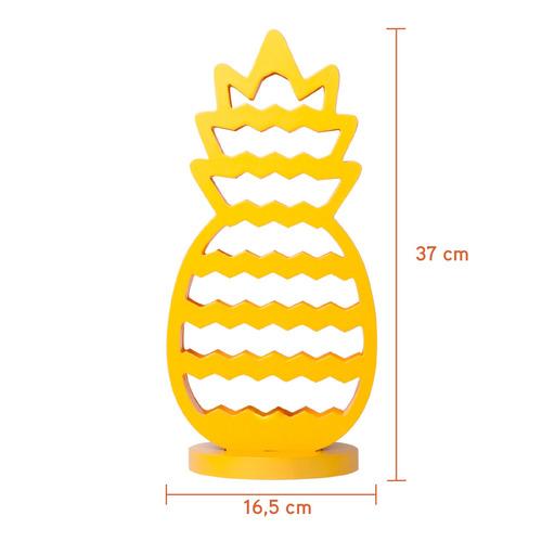 abajur forma abacaxi amarelo 37cm