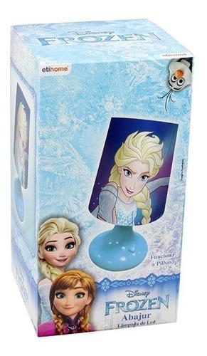 abajur infantil bebê menina decoração quarto frozen disney
