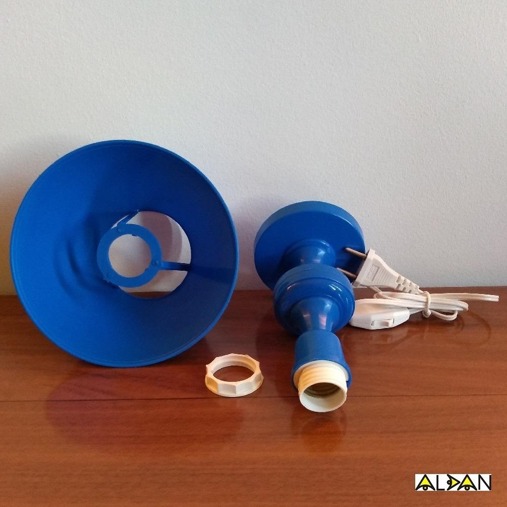 aa5e43b0d9ba4 Abajur Infantil Criança Quarto Bebê Menino Mod. Azul Marinho - R  37 ...