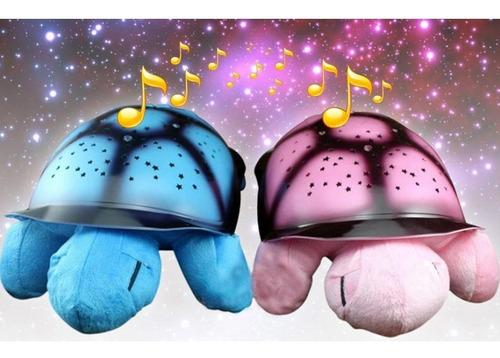 abajur infantil tartaruga musical luminaria projetor estrela