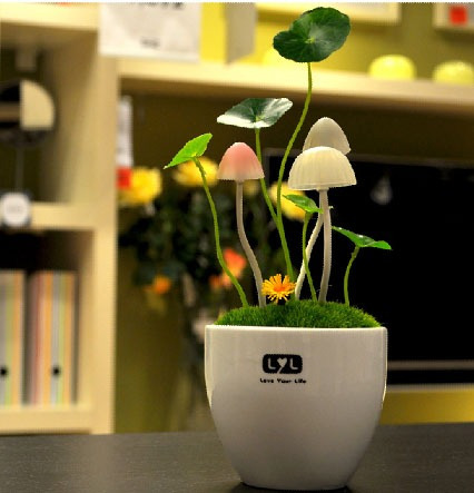 abajur led avatar vaso cogumelo