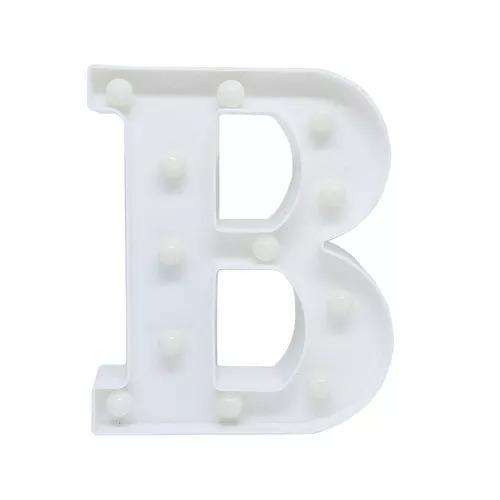 Abajur Letra B Luminária Para Decoraç u00e3o Com Led Letras R$ 69,89 em Mercado Livre