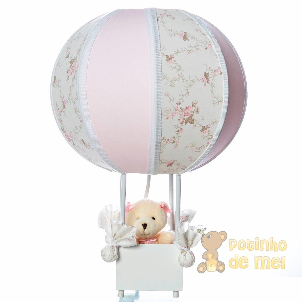 Abajur Luminária Balão Ursa Menina Quarto Bebê E Infantil  R$ 99,00 em Merc
